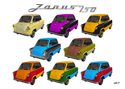 Zündapp Janus 250 Multi Color