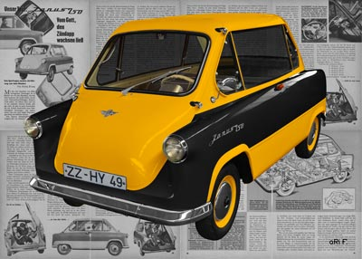 Zündapp Janus 250 in yellow & black