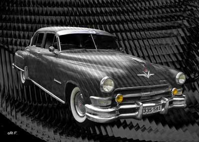 1952 Chrysler Imperial Poster in black