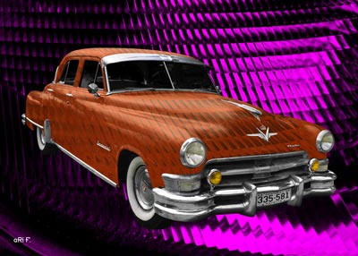 1952 Chrysler Imperial in copper & pink