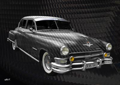 1952 Chrysler Imperial in black & grey