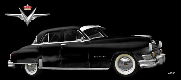 1952 Chrysler Imperial with Logo in black & black