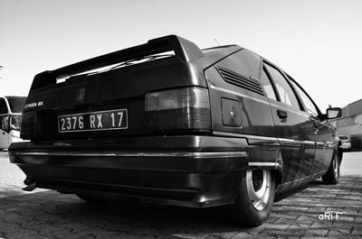 Citroen BX in black & white