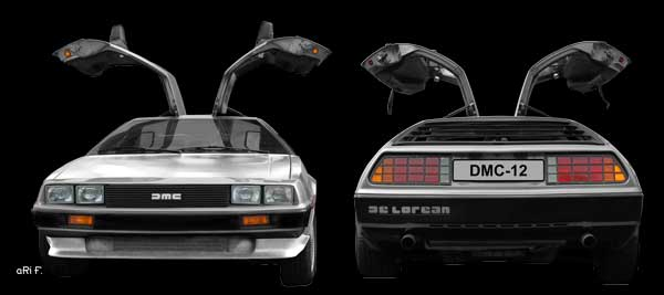 DeLorean DMC-12 double view in original color