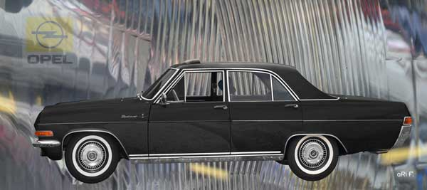 Opel Diplomat A in black side view
