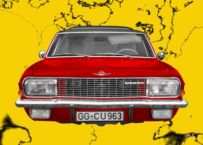 Opel Diplomat A Aero in red & yellow