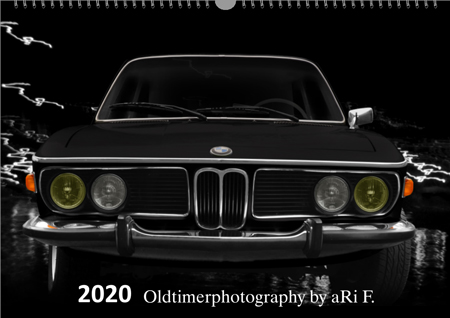 Titelblatt mit BMW 3.0 für Oldtimer-Kalender 2020