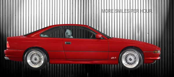 BMW 850 in red & silver