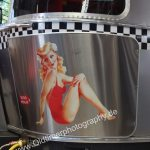 Airstream mit Pin-up Girl