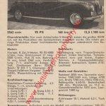 BMW 2,6 Datenblatt - BMW Werbung von 1957