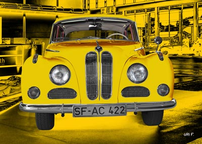 BMW 502 in factory