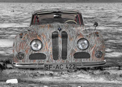 BMW 502 in Lake Constance