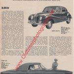 BMW 501 Werbung 50er Jahre