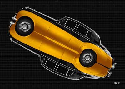 Bentley S2 in gold mirror image