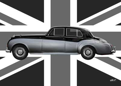 Bentley S2 in Original Color with Union Jack