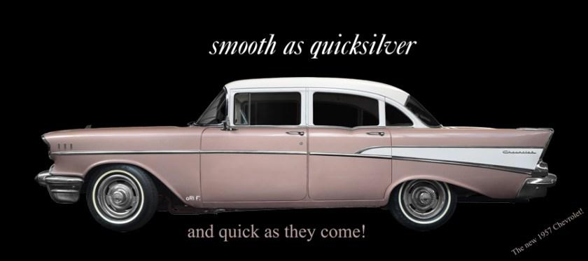 Chevrolet Bel Air 1957 Advertising Reklame Werbung