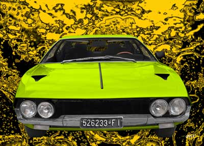 Lamborghini Espada in green by aRi F.