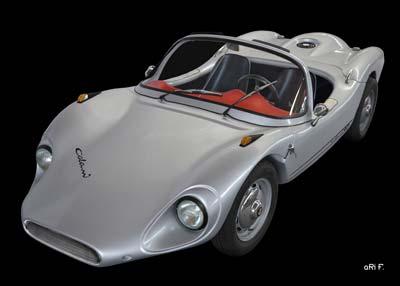Colani GT Poster in black & silver on top (Originalfarbe)