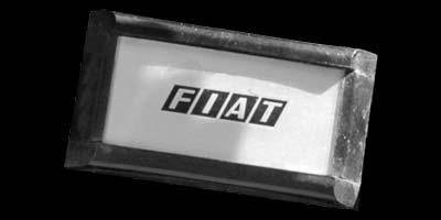 Logo Fiat 130 Coupé im Lenkrad