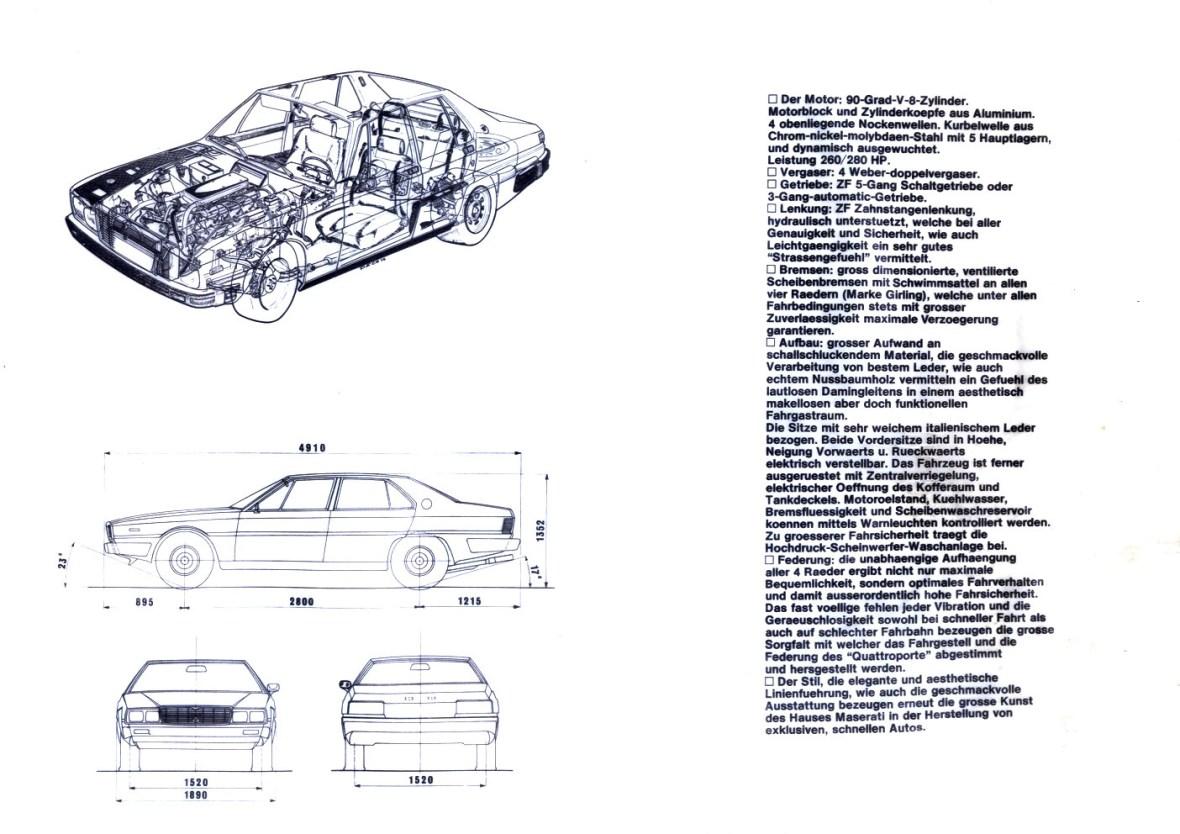 Maserati Quattroporte III Verkaufsprospekt vom Juni 1979 Seite 8
