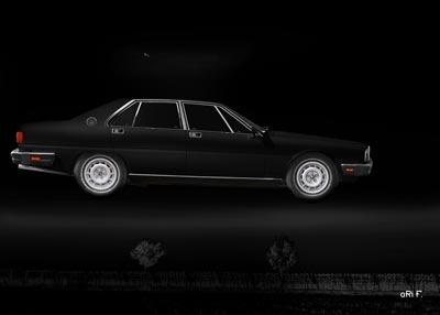 Maserati Quattroporte III flying black