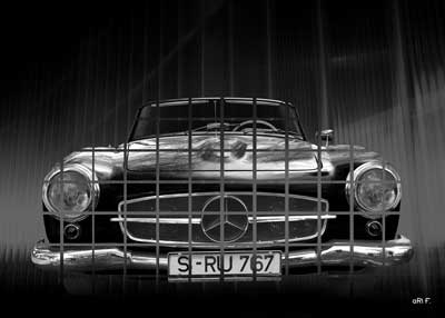 Mercedes-Benz 190 SL Poster in special black & white