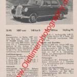 Mercedes-Benz 190 W 121 technische Daten 1958