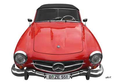 Mercedes-Benz W 121 B II Poster in Originalfarbe