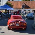 Opel GT zurück vom Rundkurs in der Innenstadt Meßkirch