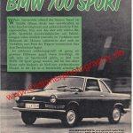 BMW 700 Testbericht aus den 60er