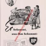 BP Station Reklame - BP Werbung von 1953