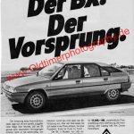 Citroen BX Der Vorsprung Reklame ams 1983