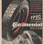 Continental Reifen FP20 - Continental Werbung von 1939