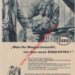 ESSO Station Werbung Reklame Advertising Werbung von Motor Revue 1957