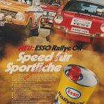 Esso Rallye Öl Speed für Sportliche Reklame in Auto Motor & Sport 1973