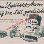 Esso Werbung Zwei-Takt Oel 1954