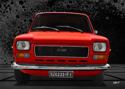 Fiat 127 front view Poster
