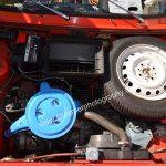 Fiat 127 mit eingebautem Ersatzrad im Motorraum gab mehr Platz im Kofferraum