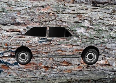 Fiat 127 Mimikry Two Art Car by aRi F.