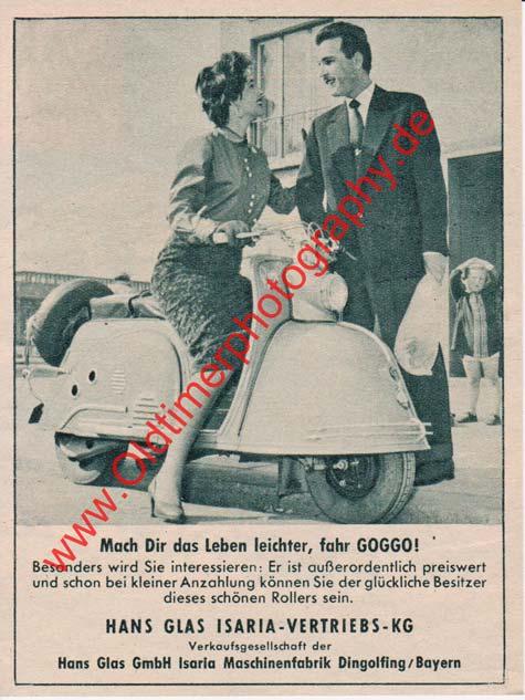 Goggo Roller Werbung von 1955