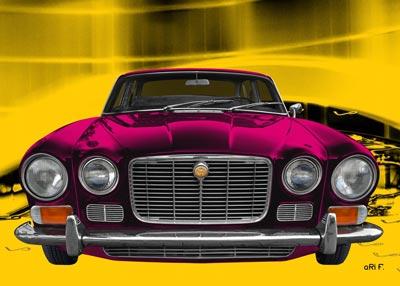 Jaguar XJ S1 front view Poster