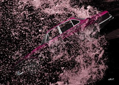 Jaguar XJ Serie 1 diving Poster by aRi F.