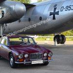 Jaguar XJ6 Mk 1 vor der Dornier Do 31 beim Dornier Museum Friedrichshafen
