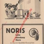 Nüral Aluminiumwerke Nürnberg Werbung - Noris Zündlicht Ag Werbung von 1939