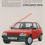 Peugeot 205 Von bleibendem Wert Annonce Reklame in ADAC motorwelt 10/1986