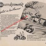Rex Autopolitur ADAC Motorwelt Mai 1956