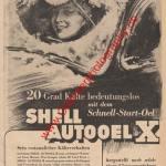 Shell Autooel X Schnellstartöl Werbung - Shell Werbung von 1939