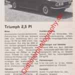 Triumph 2.5 PI technische Daten
