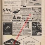 Werbung für diverses Auto-Zubehör 50er Jahre