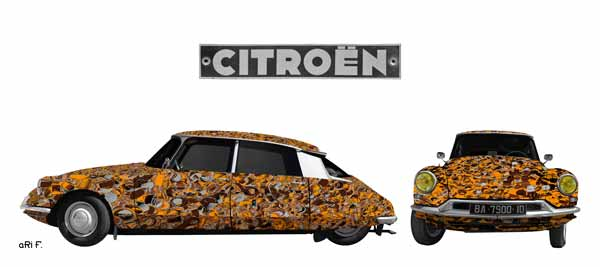Citroen ID 19 art car double vue Poster